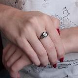 Золотое кольцо Галатта в белом цвете с бриллиантами