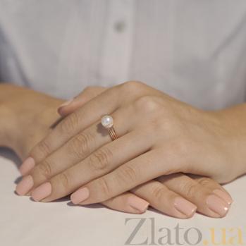 Кольцо из красного золота с жемчугом Логос SG--11333401