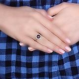 Золотое кольцо Миранда с опалом и цирконием