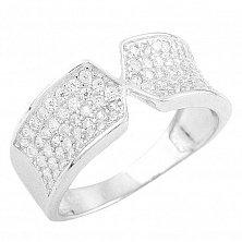 Серебряное кольцо Корсет с фианитами