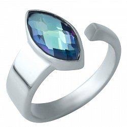 Серебряное кольцо с топазом мистик 000074308