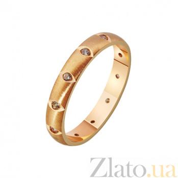 Золотое обручальное кольцо с фианитами Музыка нашей любви TRF--4121169