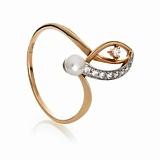 Золотое кольцо с жемчугом Бернадетт