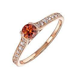 Золотое кольцо Взаимный выбор с кристаллами Swarovski