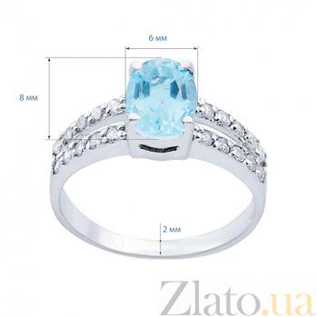 Серебряное кольцо с топазом и фианитами Небеса AQA--R01287T
