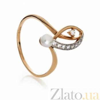 Золотое кольцо с жемчугом Бернадетт 000029987