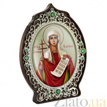 Латунная икона с образом Святой великомученицы Татианы 2.78.0949л