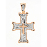 Золотой крест в комбинированном цвете Духовное начало