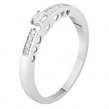 Кольцо из белого золота с бриллиантами Изабелла