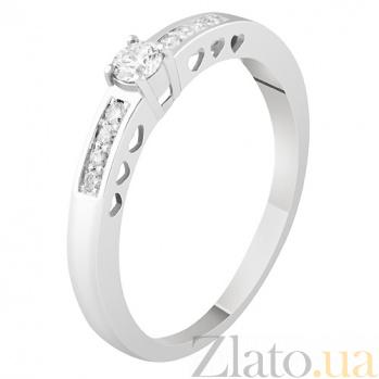 Кольцо из белого золота с бриллиантами Изабелла KBL--К1855/бел/брил