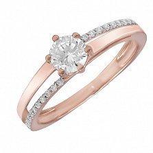 Золотое кольцо Сицилия с фианитами