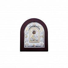 Казанская икона Божьей Матери серебро позолота
