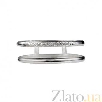 Двойное золотое кольцо с бриллиантами Горизонт 000026877