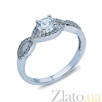 Серебряное кольцо с фианитами Дорога любви AQA--RJ2396-R