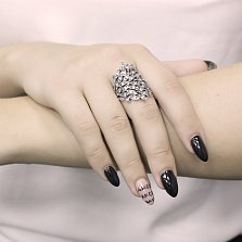 Серебряное кольцо Ива