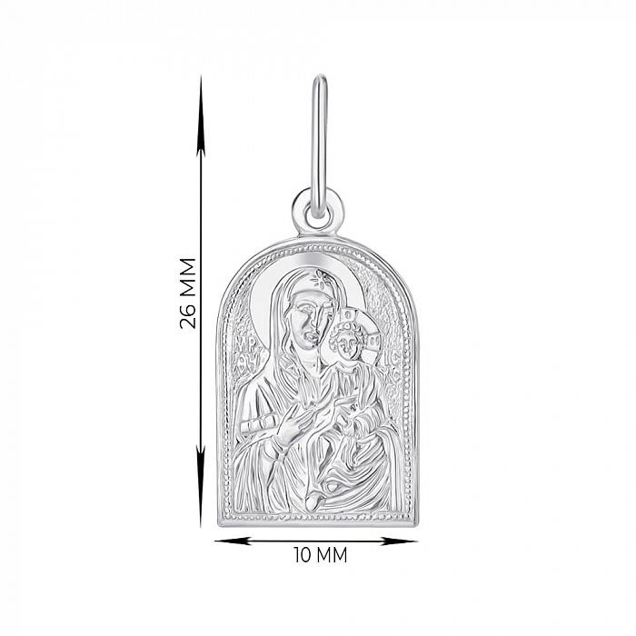 Ладанка серебряная Богородица Иверская 000145973 000145973