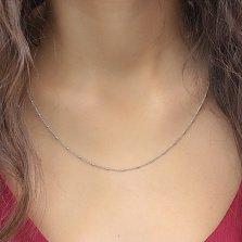 Серебряная цепочка Наоми комбинированного якорного плетения, 1,5мм