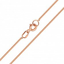 Золотая цепочка Даллас в классическом панцирном плетении, 1мм