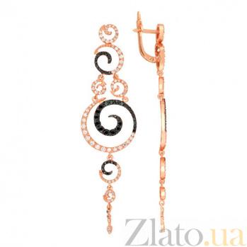 Серьги-подвески Хелена из красного золота VLT--ТТТ2443-2