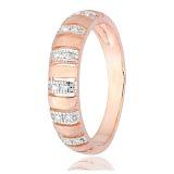 Серебряное кольцо с позолотой и цирконием Ника