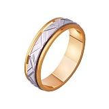 Золотое обручальное кольцо Карнавал