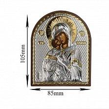 Икона Владимирская Божья Матерь, 85х105мм
