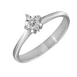 Кольцо из белого золота Звезда любви с бриллиантом