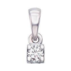 Золотой кулон в белом цвете с бриллиантом 000126559