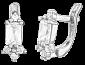 Серьги из серебра с фианитами Royal SLX--С2Ф/015