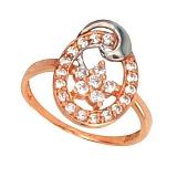 Золотое кольцо Анжелика с фианитами