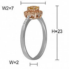 Кольцо Аравия из белого золота с бриллиантами и сапфирами