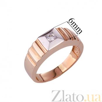 Золотое кольцо-печатка с фианитом Элвин ONX--к02233