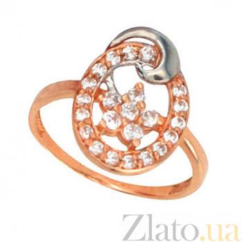 Золотое кольцо Анжелика с фианитами VLT--Е1229
