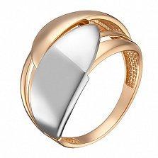 Золотое кольцо Айшвария в комбинированном цвете металла