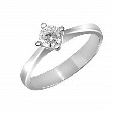 Кольцо из белого золота Нежное чувство с бриллиантом