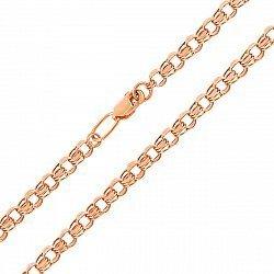 Золотая цепочка Клермонт в плетении плоский бисмарк