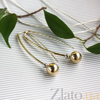 Золотые серьги Амина в желтом и белом цвете SVA-2001645132/Без вставки