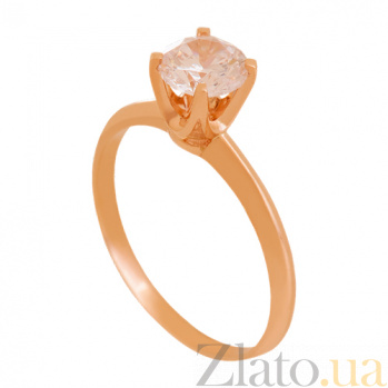 Золотое кольцо с цирконием Светлый миг 000029432