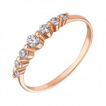 Золотое кольцо с цирконием Swarovski 000049400