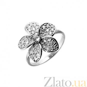 Серебряное кольцо с бриллиантами Плюмерия ZMX--RD-6503-Ag_K