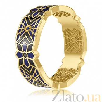 Мужское обручальное кольцо из желтого золота Калейдоскоп Любви: Увертюра к счастью 3364