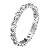 Кольцо в белом золоте Констанция с бриллиантами
