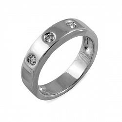 Обручальное кольцо Венера из белого золота с бриллиантами