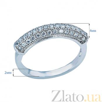 Серебряное кольцо с усыпкой из цирконов София AQA--SJT-801-R