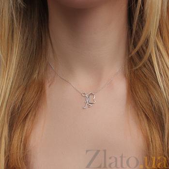 Колье из белого золота с бриллиантами Приносящий любовь KY13239