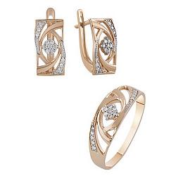 Золотой гарнитур с бриллиантами Доротея 000017572