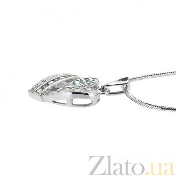 Подвес из белого золота с топазами и бриллиантами Большое сердце ZMX--PT-6124w_K