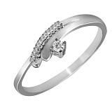 Кольцо из белого золота Селина с бриллиантами