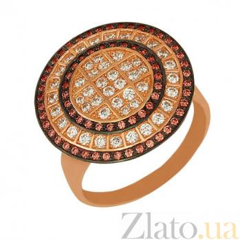 Кольцо из красного золота Голливуд с фианитами VLT--ТТ154-2