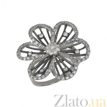 Кольцо из белого золота Жасмин с фианитами VLT--ТТ1080-1